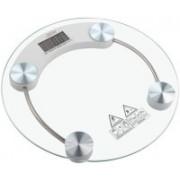 Qoibito Personal Health Bathroom Digital Human Body Weight Machine Round Glass Weighing Scale(White)