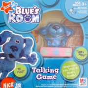 """BLUES CLUES Blues Room TALKING GAME w BLUE FIGURE on """"TALKING Base"""" NO READING Required (2004)"""