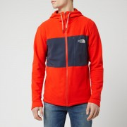 The North Face Men's Blocked TKA 100 Full Zip Hoody - Fiery Red/Urban Navy - XXL