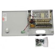 Sursa alimentare CCTV in cutie metalica 12V-5A 6 iesiri