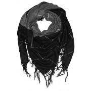 Glory Night velký šátek - zimní pléd černá