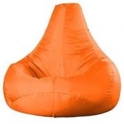 Ink Craft Orange Hi-Back Gamer Bean Bag Chair With Bean Filling - XL