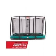 Studsmatta BERG InGround EAZYFIT GREEN Air Flow + SAFETY NET DELUXE EAZYFIT