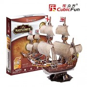 Lelifang Kids Toys 3D Puzzle Old Ship Series T4009H Mayflower Model