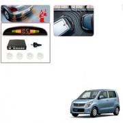 Auto Addict Car White Reverse Parking Sensor With LED Display For Maruti Suzuki WagonR New