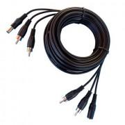 Anykam 10m Kombikabel mit Cinch-Stecker video+ audio+ strom 3in1 Videokabel 1,5Euro/m