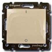 Выключатель одноклавишный двухполюсный Legrand Valena 16A кремовый