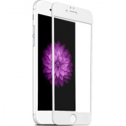 Apple I Phone 7 White Color 4D Tempered Glass Genuine Branded Product .