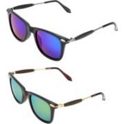 RaghuvirFashion Aviator, Wayfarer, Round Sunglasses(Blue, Orange)
