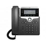 Cisco CP-7821-3PCC-K9= VoIP-systeemtelefoon LC-display Zwart, Zilver