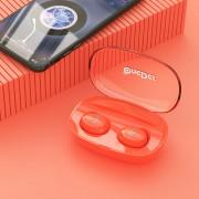 ONEDER W12 TWS Mode Wireless Stereo Bluetooth Headphone with Microphone - Orange