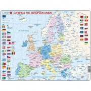 Puzzle Harta Politica a Europei Larsen, 70 piese