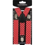 Eccellente Y- Back Suspenders for Boys(Red)