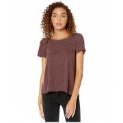 Chaser Tri-Blend Short Sleeve Scoop Back Flouncy Tee Dark Ruby