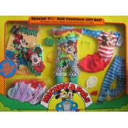 "MICKEY & PALS Special 11-1/2"" DOLL FASHIONS Gift Set w Accessories Fits Barbie, Lindsey, Young 'n Lovely & 11-1/2"" Dolls (1986)"
