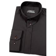 Pánská košile se stojáčkem černá Avantgard 452-23-39/182