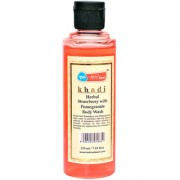Khadi Mart Herbal Strawberry with Pomegranate Body Wash - 210ml