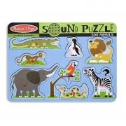 Melissa Doug puzzle de lemn cu sunete Animale de la Zoo