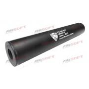 Silencer (amortizor) negru 19cm