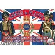 Napoleonic Wars Waterloo 1815 Kings German Legion Horse Artillery Crew (5) W/Cannon 1/32 Armies In Plastic