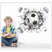 3D samolepka na zeď futbal