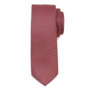 Keskeny nyakkendő piros geometrikus mintával 9806