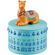 Merkloos Sieradenkistje/sieradenbox bruine lamas/alpacas dieren 10 x 8 cm