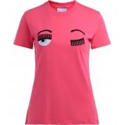 Chiara Ferragni Collection T-shirt Chiara Ferragni Flirting rosa fluo con logo frontale