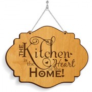 100yellow Wood The Kitchen Designer Shape Decorative Plate Multi - Pack of 1