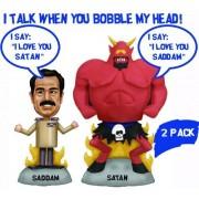 Talking Saddam and Satan Wacky Wobbler Set
