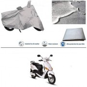 Ronish 100 Waterproof Heavy Quality Bike Body Cover for Standard Size Silver for Hero Electric Optima