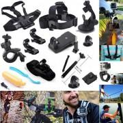 Kit de accesorios de camara 13-en-1 para GoPro Hero 4 / 3+ / 3/2/1 / Session - Negro