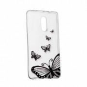 Husa Silicon Transparent Slim Butterfly Sony XZ2