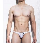 Mategear Nan Song Printed Tapered Sides V Front Series V Ultra Pouch Bikini Swimwear White 1160202