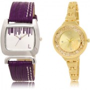 The Shopoholic Silver Gold Combo Best Combo Pack Silver And Gold Dial Analog Watch For Girls Watches Women Belt