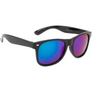 Ochila Green Mirrored Wayfarer Unisex Sunglasses