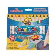 Carioci pentru textile, 12 culori/set CARIOCA Fabric