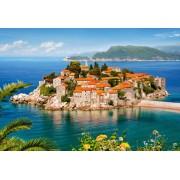 Puzzle Castorland - Sveti Stefan Montenegro, 2000 piese