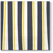 Lunchservet 33x33 pakje 20 st., Striped Illusion grey
