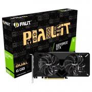 VC, PALIT GTX1660 DUAL, 6GB GDDR5, 192bit, PCI-E 3.0 (4710636270697_3Y)
