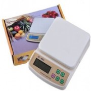 Shrines Digital 10kg x 1g Kitchen Scale Balance Multi-purpose weight measuring machine without Adapter(CHARGER) Weighing Scale(Wight)