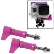 Maxy Set 2pz Vite Con Bullone A Pomello Hr213 Purple /per Gopro Hd Hero - Nylox - Action Cam