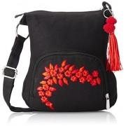 Pick Pocket Women's Sling Bag (Black,Slblkremb24)