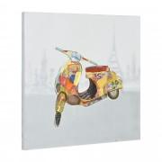 [art.work] Ručně malovaný obraz - skútr 1 - plátno napnuté na rámu - 60x60x3,8 cm