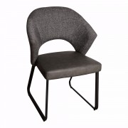 PTMD Samuel PU stoel zonder armleuning grijs