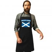 Bellatio Decorations Schotland vlag barbecueschort/ keukenschort zwart volwassenen