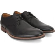 Clarks Broyd Walk Black Leather Lace Up For Men(Black)