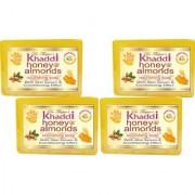 Khadi Honey Almond Nourishing Glycerin Soap (Premium Brand) By Dr. Thapar Buy 3 Get 4 (125 Grams Each )