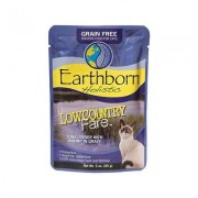 Earthborn Holistic Lowcountry Fare Tuna Dinner with Shrimp in Gravy Grain-Free Cat Food Pouches, 3-oz pouch, case of 24