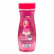 Gel de dus cu sclipici Elcurina, pentru copii, aroma cirese, 300 ml, Roz